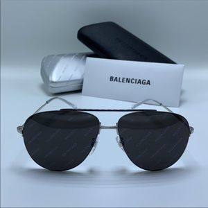 Balenciaga Sunglasses BB0013S 004 Silver/ Grey